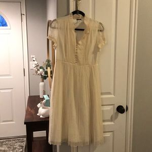 NWOT beautiful J Crew Ivory dress
